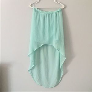 Zara high low skirt